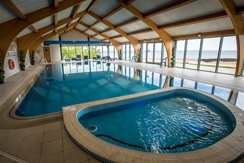 Our stunning pool, with adjoining hydro-pool